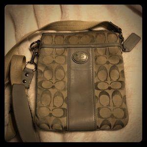 Authentic Original Gray Coach Crossbody Bag